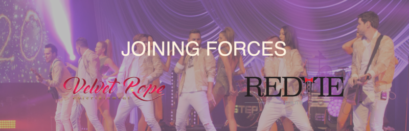 Joing Forces 800x256 - Velvet Rope Entertainment Has Teamed Up With The REDTIE Band