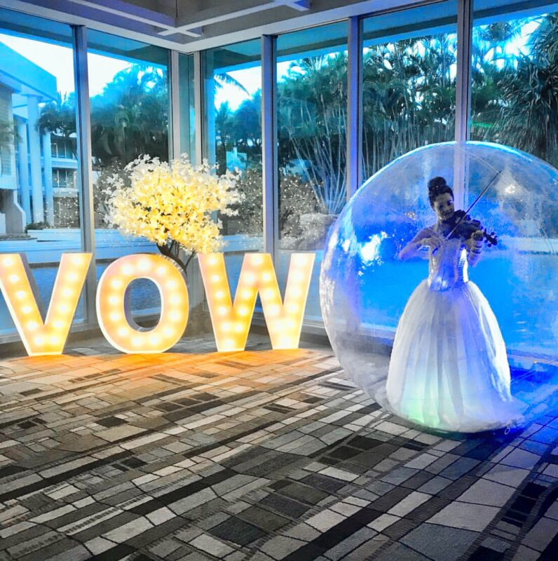 bubble violin 796x800 - 2021 – What does your dream wedding look like now?